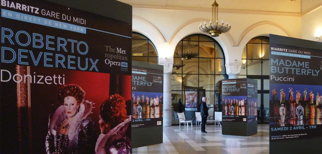 metropolitan opera new york - gare du midi - biarritz